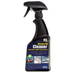 Flitz Marine/RV Cleaner w/Mold & Mildew Stain Remover – Spray Bottle - Remove Black Mold Mold Removal Spray, Diy Mold Remover, Mold And Mildew Remover, Cleaning Mold, Cleaning Hacks, Remove Black Mold, How To Remove, Remove Mold From Clothes, Mildew Stains