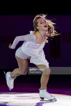 Elena Radionova of Russia perform their Gala Exhibition during Rostelecom Cup ISU Grand Prix of Figure Skating 2015, at the Small Sports Arena of Olympic Complex Luzhniki, in Moscow, Russia, on November, 22,2015.