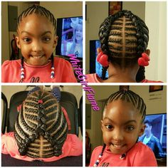 quick and easy french braid styles for black hair Little Girl Braid Styles, Kid Braid Styles, Little Girl Braids, Braids For Kids, Girls Braids, Kid Braids, Toddler Braids, Braids Easy, Lil Girl Hairstyles