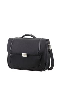 "X'Blade 2.0 Business Black Briefcase 1 Gusset 16"" #Samsonite #XBlade20 #Travel #Suitcase #Luggage #Strong #Lightweight #MySamsonite #ByYourSide"