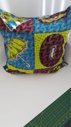African Print Toss Cushion by VinettaClaireHomeDec on Etsy