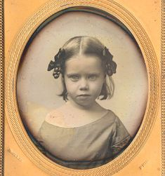 Sixth plate daguerreotype by McClees, Philadelphia, close-up view of a young girl.