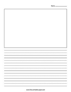 Writing Paper With Picture Box – Free Printable Paper Kindergarten Journals, Kindergarten Writing, Kids Writing, Writing Paper, Writing Worksheets, Writing Activities, Preschool Activities, Write My Paper, Letter Writing Template