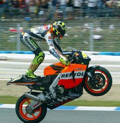 Valentino Rossi Wheelies