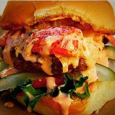Surf & turf burger