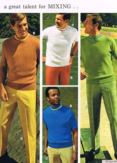 Sears menswear, 1968 - I think my Dad had all of these swanky shirts!