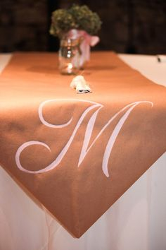 Brown craft paper table runner