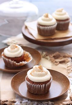 Carrot Cake Cupcakes, with maple cream cheese frosting...mmmmmm!