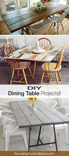 DIY Dining Table Projects with tutorials!