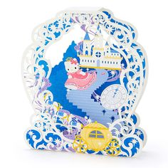 Hello Kitty Laser Cut Carriage Pop Up Decorative Greeting Card - SANRIO #Sanrio #Birthday