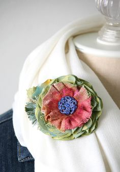 Flower Pin, Unique Gifts for Women, Gift for Teen Girls, Fabric Flower Brooch, Colorful Flower Pin, Unique Accessories