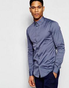 Armani Jeans – Langärmliges Stretchhemd in schmaler Passform