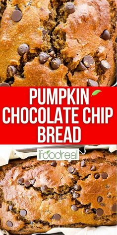 Healthy Pumpkin Chocolate Chip Bread is a fall must have. Moist, easy, fluffy and with wholesome ingredients pumpkin bread everyone loves. It is the best out there!