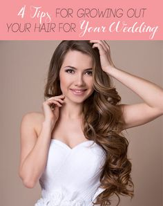 Think Growing Out Your Hair For Your Wedding is Impossible? Think Again. Wedding Hairstyles For Women, Teen Hairstyles, Latest Hairstyles, Pretty Hairstyles, Celebrity Hairstyles, Celebrity Wedding Hair, Hair To Go, Growing Your Hair Out, Hot Hair Styles
