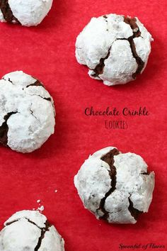 Chocolate Crinkle Cookies - a favorite for the holidays!