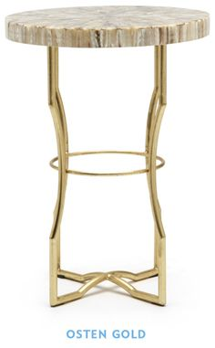 Osten Gold Side Table