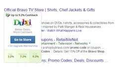 """Searching in google for """"sho bu bravo"""" coupons"""