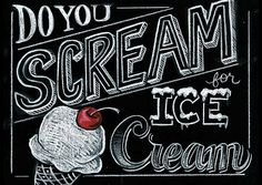 This piece caught my eye because the variety of different lettering it uses and the ice cream sign haha. Each word has a different X-height. Each style of lettering causes a variation in counters.
