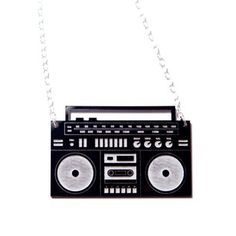 Boombox Necklace Black now featured on Fab.