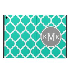 Monogrammed Teal Gray Moroccan Lattice Cover For iPad Air in each seller & make purchase online for cheap. Choose the best price and best promotion as you thing Secure Checkout you can trust Buy bestHow to          	Monogrammed Teal Gray Moroccan Lattice Cover For iPad Air please foll...