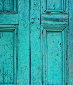 Aqua door - Trinidad, Cuba by 'Ian Humes