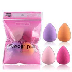 4 stücke Pro Schönheit Flawless Makeup Blender Foundation Puff Multi-form-schwämme Werkzeug