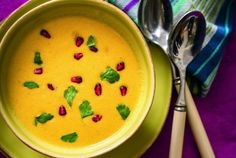 Cauliflower-Cashew Soup with Pomegranate Seeds - MasterCook