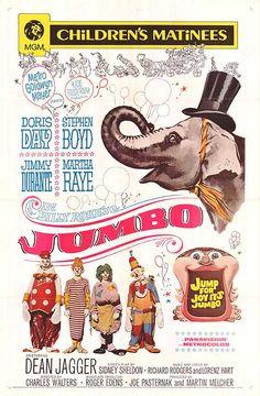 8/19/14  2:57a  MGM  ''Billy  Rose's Jumbo'' Doris Day Stephen Boyd  Jimmy Durante  Martha Raye  Released: 12/1962 Her 30th Film
