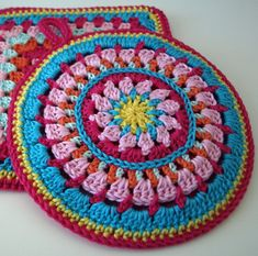 handmade crocheted set of potholders by maRRoseCCC on Etsy