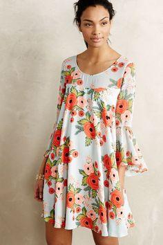 Fluttered Blooms Swing Dress - anthropologie.com