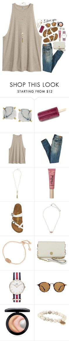"""""""hawaii was a dream!!"""" by sdyerrtx ❤ liked on Polyvore featuring Vince Camuto, H&M, American Eagle Outfitters, Cole Haan, Too Faced Cosmetics, Birkenstock, Kendra Scott, Tory Burch, Daniel Wellington and Ray-Ban"""