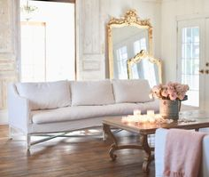 Fresh & warm winter living room refresh first look - French Country Cottage