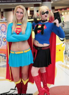 I love this picture. Supergirl and Harley Quinn, photo by David Ngo