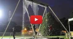 Incredible Waterfall Swing Synchronizes To Keep You Dry!