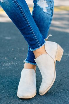 RubyClaire Boutique - The Bailey Booties | Stone , $36.00 (https://www.rubyclaireboutique.com/the-bailey-booties-stone/)
