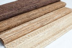 Our Quogue material for Woven Wood Shades has a beautiful organic weave. Order your free swatches.   The Shade Store