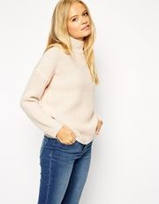ASOS Chunky Jumper in Twist Yarn with Turtle Neck