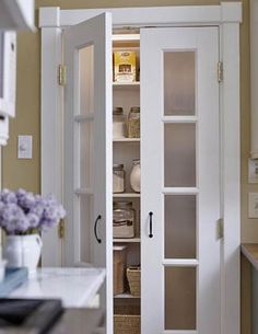 frosted double pantry doors