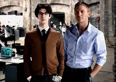 Q and Bond.  Ben Whishaw and Daniel Craig.