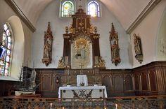 Eglise Saint-Martin  - Nef de la Vierge. .Saint-Valery-sur-Somme. Picardie