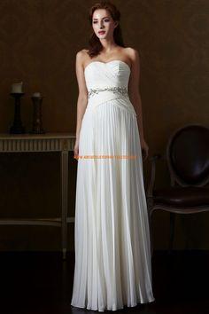 Eden Silver Label Kolumne Lange Exklusive Brautkleider aus Chiffon