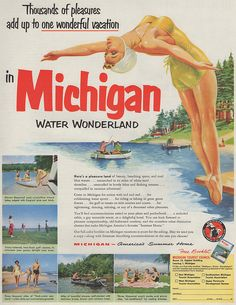 When Michigan ditched its exhausted state tourism marketing campaign, consumers saw that there's a lot more than lakes in the Great Lakes State. Michigan Blue, Michigan Water, State Of Michigan, Northern Michigan, Lake Michigan, Michigan Facts, Western Michigan, Michigan Vacations, Michigan Travel