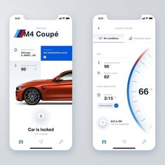 BMW app concept by Monika⠀ – Make Mobile Applications Ux Design, Car App, Android App Design, Iphone Ui, Mobile Ui Design, Mobile App Ui, Branding, Ui Design Inspiration, User Experience Design