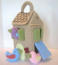 Cute crochet birdhouse