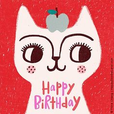 I'm really pleased to be able to share the work of Flora Chang with you today, also known as Happy Doodle Land over in her etsy sh. Happy Birthday Art, Happy Birthday Vintage, Happy Birthday Images, Happy Birthday Greetings, Birthday Greeting Cards, Birthday Posts, Birthday Messages, Happy Doodles, Illustration