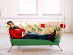 Duduá: Muebles decorados con punto de cruz XXL