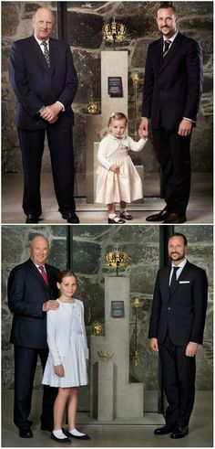 King Harald, Crown Prince Haakon and Princess Ingrid Alexandra