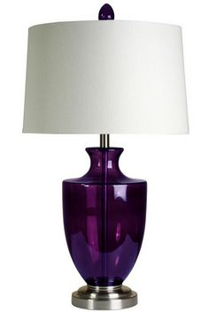 The Riley Table Lamp - Purple from Urban Barn is a unique home décor item. Urban Barn carries a variety of Table Lamps and other  products furnishings.