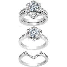 Star of David Diamond Engagement Ring & Matching Wedding Band