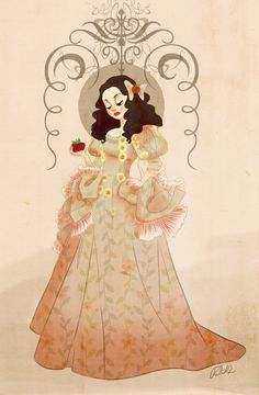My Snow White by VPdessin.deviantart.com on @deviantART (This reminds me of OUAT's version of Snow White.)
